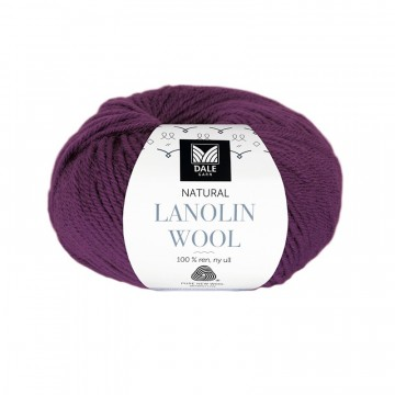 Natural Lanolin Wool 1428 Rødlilla