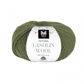 Natural Lanolin Wool 1436 Oliven