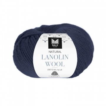 Natural Lanolin Wool 1437 Mørk indigoblå