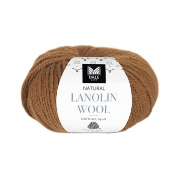 Natural Lanolin Wool 1426 Mørk oker