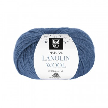 Natural Lanolin Wool 1435 Jeansblå