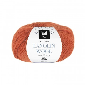 Natural Lanolin Wool 1434 Oransje
